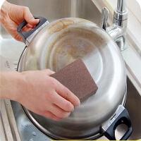10片装魔力刷锅洗碗擦海绵擦子金刚砂锅底除污垢除铁锈清洁刷袖洁神奇除垢纳米金刚砂海绵擦魔力