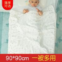 秋冬厚初生儿宝宝纱布襁褓包巾秋纯棉新生儿抱被冬婴儿包被抱毯