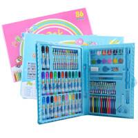 86件套色新生开学礼物学生3D儿童宝宝幼儿园绘画涂鸦旋转大容量不掉色画笔水绘笔水彩笔彩色笔大套装文具奖品