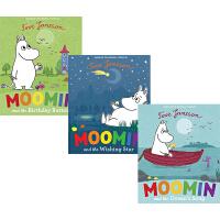 英文原版绘本 姆明系列 3册故事图画书 Moomin and the Wishing Star/Birthday Bu
