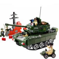 兼容乐高军事积木可发射榴弹大炮运输卡车装甲车坦克拼装玩具 可发射启蒙823坦克 466片