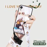 iphone xr手机壳玻璃可爱卡通苹果xr新款女款男全包iphonexr防摔软硅胶保护套潮牌挂 苹果XR 一堆猫咪
