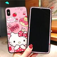 苹果iphone6plus钢化膜8全屏x卡通可爱6s手机壳前后7plus彩膜kt猫8plus贴膜xs