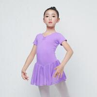 儿童舞蹈服夏季女童练功服短袖芭蕾舞裙女孩拉丁舞裙子跳舞服装