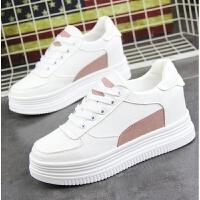街拍白色内增高7cm女鞋小白鞋子女2018新款百搭韩版休闲学生板鞋