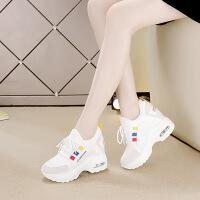 10厘米休闲女鞋2018秋冬新款拼色气垫鞋内增高低帮运动鞋