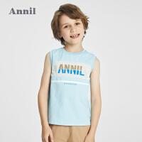 【2件4折价:95.6】安奈儿童装男童背心套装2021新款洋气夏季男孩休闲上衣裤子两件套