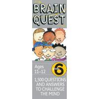 现货 英文原版Brain Quest Grade 6 PK益智挑战阅读六年级1500问