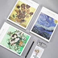 16K精装素描本120页学生用手绘加厚成人空白画画小清新简约速写本 复古绘画本