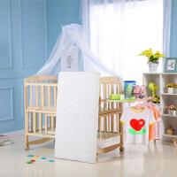 婴儿床实木多功能宝宝床摇篮床摇床新生儿bb床无漆儿童床