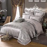 欧式床单四件套全棉纯棉1.8m/2米床欧美风床上用品六件套提花被套