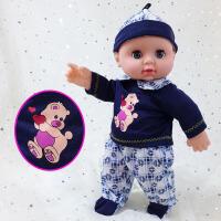 胶皮娃娃玩具 软胶洗澡软胶仿真婴儿洋娃娃 搪胶皮仿真娃娃 儿童玩具公仔女孩 猪猪三件套 光头 眨眼