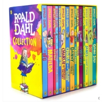 [现货] 英文原版 Roald Dahl Collection 罗尔德・达尔系列儿童小说15册套装 诸如电影《圆梦巨人》的原著小说《好心眼的巨人》,查理和巧克力工厂,了不起的狐狸爸爸等15册收录在内