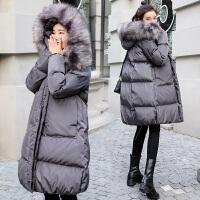 中长款冬装宽松棉袄厚 孕妇棉衣服女冬季外套韩版孕妇羽绒服
