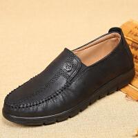 18新款老北京布鞋春季中老年男鞋爸爸鞋软底父亲休闲鞋男单鞋 黑色 39