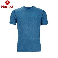 Marmot/土拨鼠春夏户外男士速干短袖T恤轻薄透气