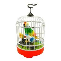 会说话的鹦鹉 儿童电动玩具小鸟 仿真感应声控鸟笼 会叫会动鹦鹉玩具