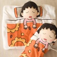麦当劳日本樱桃小丸子公仔背包睡袋钥匙扣毛绒玩具挂件娃娃礼物 小丸子睡袋 10厘米-19厘米