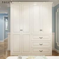欧式田园整体开门移门卧室衣柜四五六门 实木衣柜白色衣橱 2门
