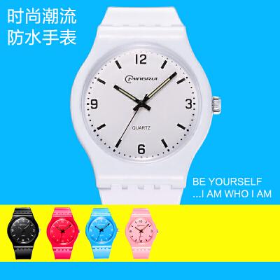 手表女学生韩版简约休闲中小学生防水石英表潮流儿童电子手表