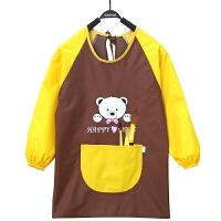 儿童围裙罩衣长袖防水反穿衣幼儿园小孩绘画画衣