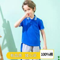 【3件2折价:45元】斯提妮男童短袖polo衫T恤2021夏装新款儿童装韩版卡通翻领宝宝汗衫T