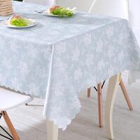 方桌桌布防水油耐烫免洗塑料正方形布家用清新长方形餐桌小台布q