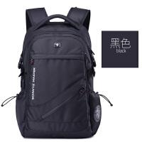 瑞士军刀双肩包男背包休闲商务电脑包女韩版防水旅行包中学生书包