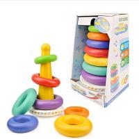1-3岁婴儿童彩虹塔八个月玩具宝宝层层叠叠叠乐九七彩套圈圈 不倒翁彩虹塔