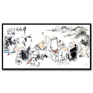 河南省美术家协会会员 庄业福《醉仙图》