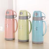 保温壶家用办公热水瓶1L玻璃内胆保温水壶学生儿童暖瓶旅游壶