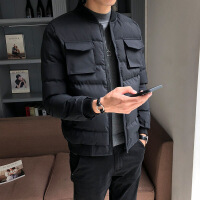 男士外套冬季2019新款棉衣潮流韩版修身棉袄加厚帅气冬天