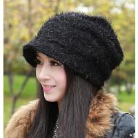 休闲时尚韩版帽保暖女 女帽子韩版潮堆堆帽