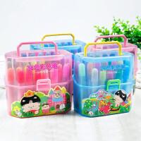 水彩笔套装儿童幼儿园彩笔彩色画笔24色绘画笔涂鸦画画笔宝宝初学者手绘