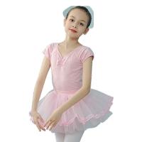 儿童舞蹈服女童夏季短袖幼儿练功服演出服装衣服芭蕾舞裙子