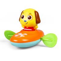 洗澡戏水玩具划水拉线上弦上劲发条玩水玩具0-3-6-12-18
