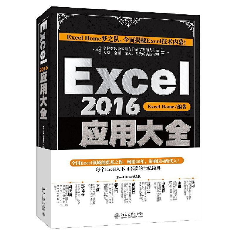 Excel 2016应用大全/全国Excel领域奠基之作,Excel Home多位微软全球MVP,全面揭秘Excel技术内幕,《Excel 2013应用大全》全新升级版!