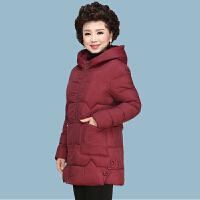 妈妈冬装棉衣中长款2018新款40岁50洋气外套中老年女羽绒棉袄