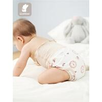 婴儿尿布裤棉宝宝尿布兜隔尿裤可洗透气秋婴儿棉尿布裤