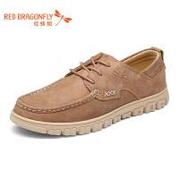 红蜻蜓男鞋休闲皮鞋秋冬休闲鞋子男WYA7000