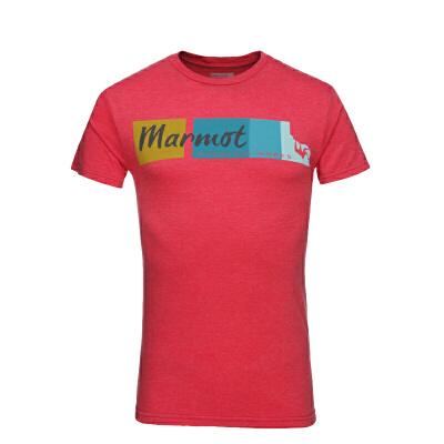 Marmot/土拨鼠18春夏休闲户外男士运动T恤