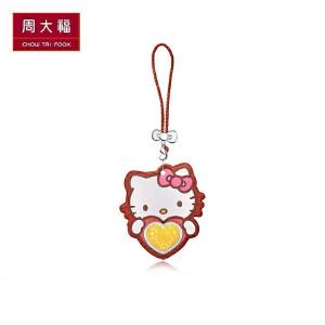 礼品臻选周大福首饰Hello Kitty挂坠利是金黄金金币R19957