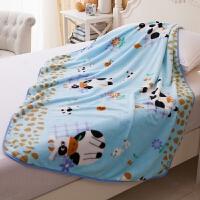 单层薄款珊瑚绒婴儿毛毯 新生儿小毯子 儿童盖毯宝宝盖肚子小被子y