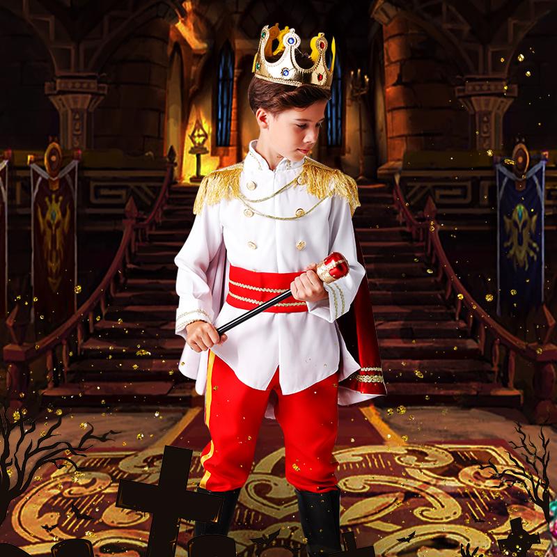 男童国王 王子服装礼服扮演服幼儿园演出服儿童节表演服