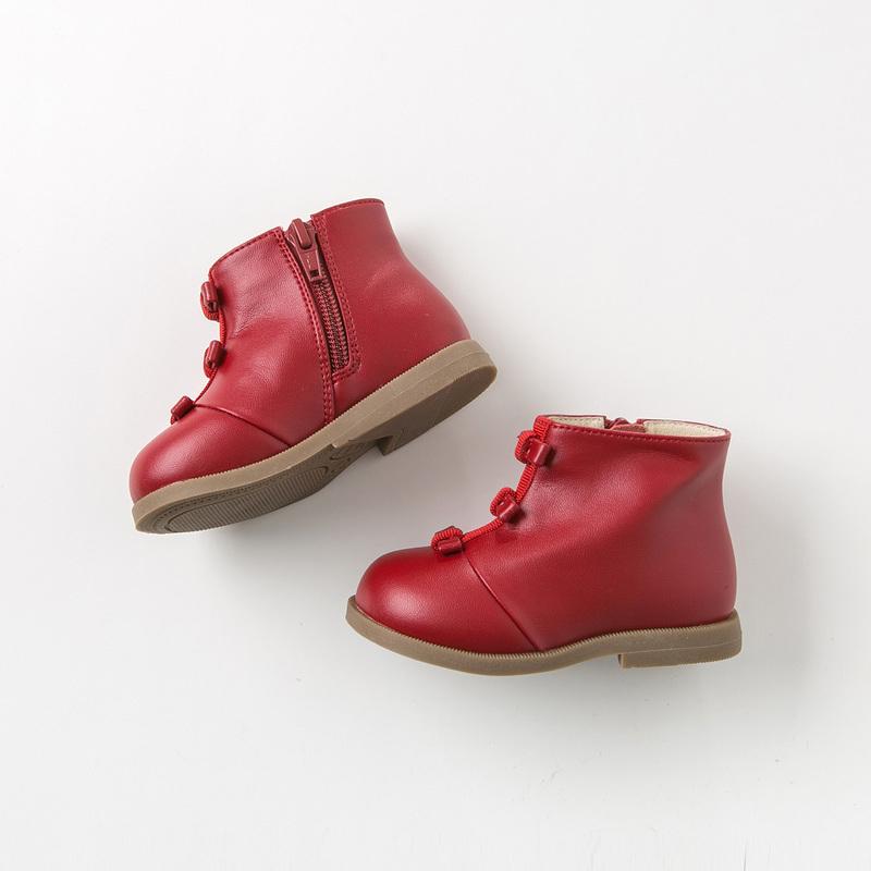 davebella戴维贝拉童装冬季新款女童靴子宝宝加绒保暖棉靴DB11315