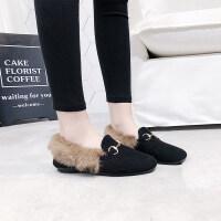 毛毛鞋雪地靴2018年冬季加绒保暖棉鞋短靴子女鞋 801 黑色