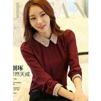 新款时尚百搭韩版蕾丝衫女修身高领长袖衣蕾丝打底衫上衣