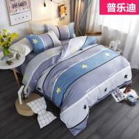床上四件套棉床单被罩网红床品水洗棉1.5米1.8m婚庆三4件套k