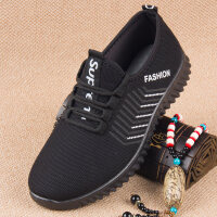 老北京布鞋秋季男鞋系带运动休闲中老年鞋轻便透气老人健步鞋