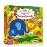 宝宝的启蒙玩玩书 动物单词 英文原版 Baby's Very First Books Animal Words 纸板书